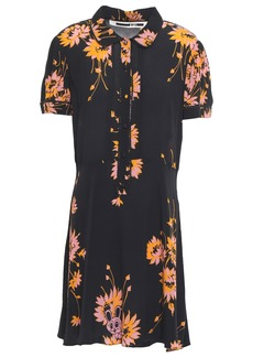 Mcq Alexander Mcqueen Woman Pintucked Crepe De Chine Dress Black