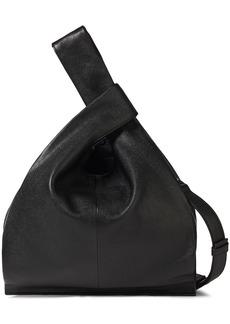 Mcq Alexander Mcqueen Woman Plath Pebbled-leather Shoulder Bag Black