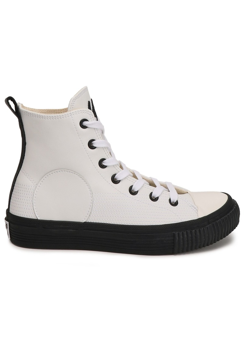 Mcq Alexander Mcqueen Woman Plimsoll Leather High-top Sneakers Ivory