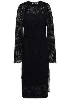 Mcq Alexander Mcqueen Woman Pointelle-knit Linen Dress Black