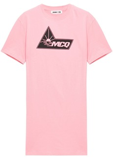 Mcq Alexander Mcqueen Woman Printed Cotton-jersey Mini Dress Pink