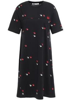 Mcq Alexander Mcqueen Woman Printed Cotton-jersey Mini Dress Black