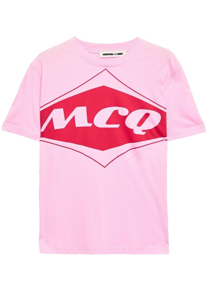 Mcq Alexander Mcqueen Woman Printed Cotton-jersey T-shirt Baby Pink