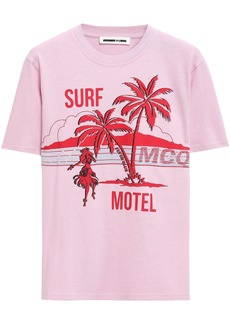 Mcq Alexander Mcqueen Woman Printed Cotton-jersey T-shirt Bubblegum
