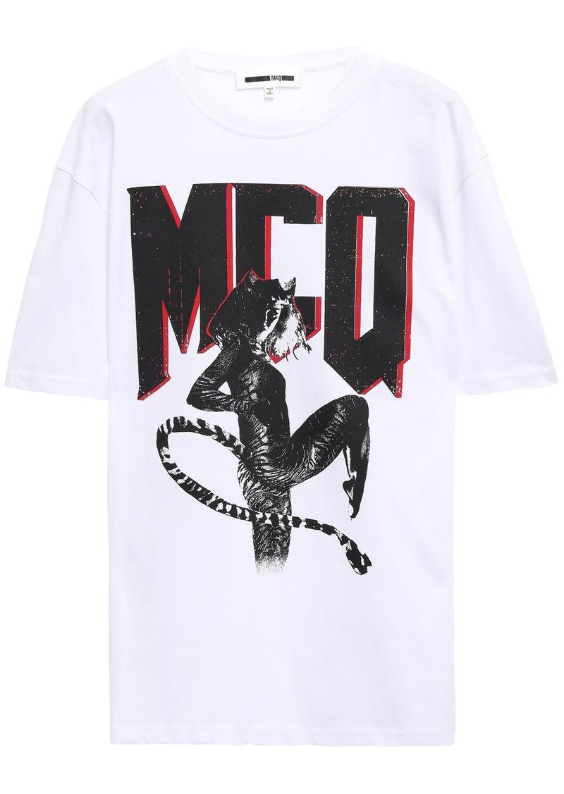Mcq Alexander Mcqueen Woman Printed Cotton-jersey T-shirt White