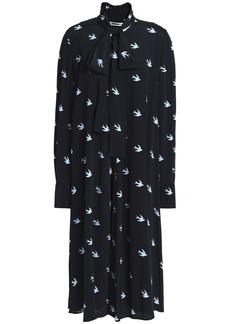 Mcq Alexander Mcqueen Woman Printed Crepe Dress Midnight Blue