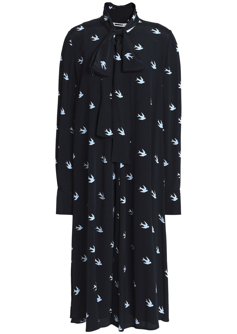 Mcq Alexander Mcqueen Woman Printed Crepe Dress Midnight Blue
