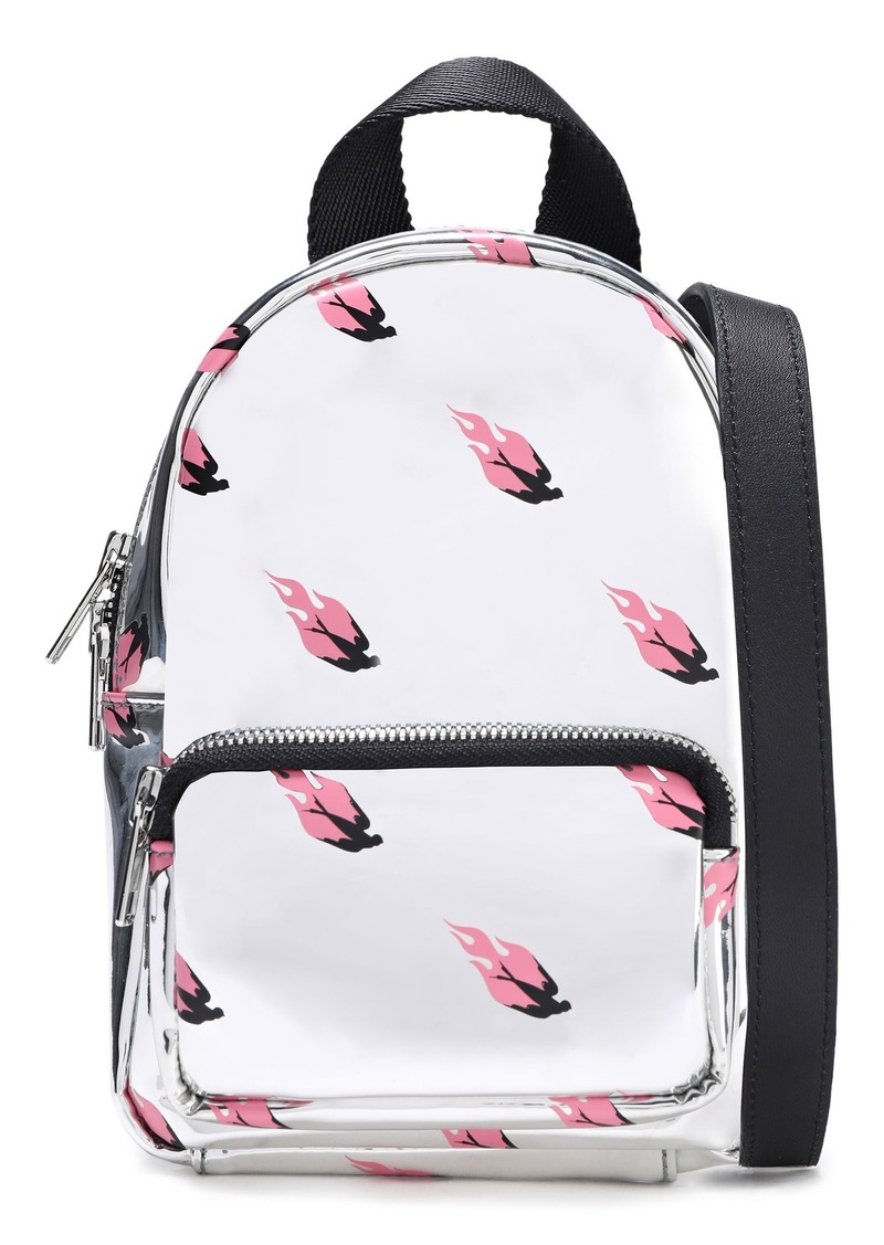 Mcq Alexander Mcqueen Woman Printed Faux Mirrored-leather Backpack Silver