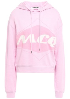 Mcq Alexander Mcqueen Woman Printed French Cotton-terry Hoodie Baby Pink
