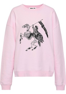 Mcq Alexander Mcqueen Woman Printed French Cotton-terry Sweatshirt Baby Pink