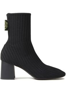Mcq Alexander Mcqueen Woman Ribbed-knit Sock Boots Black