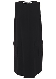 Mcq Alexander Mcqueen Woman Satin-crepe Mini Dress Black