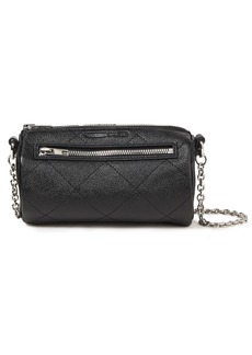 Mcq Alexander Mcqueen Woman Quilted Pebbled-leather Shoulder Bag Black