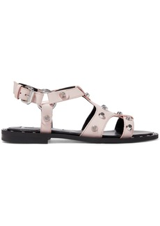 Mcq Alexander Mcqueen Woman Solenie Studded Leather Sandals Pastel Pink