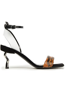 Mcq Alexander Mcqueen Woman Spirit Leather And Elpahe Sandals Animal Print