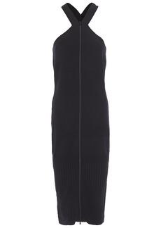 Mcq Alexander Mcqueen Woman Stretch-knit Midi Dress Black