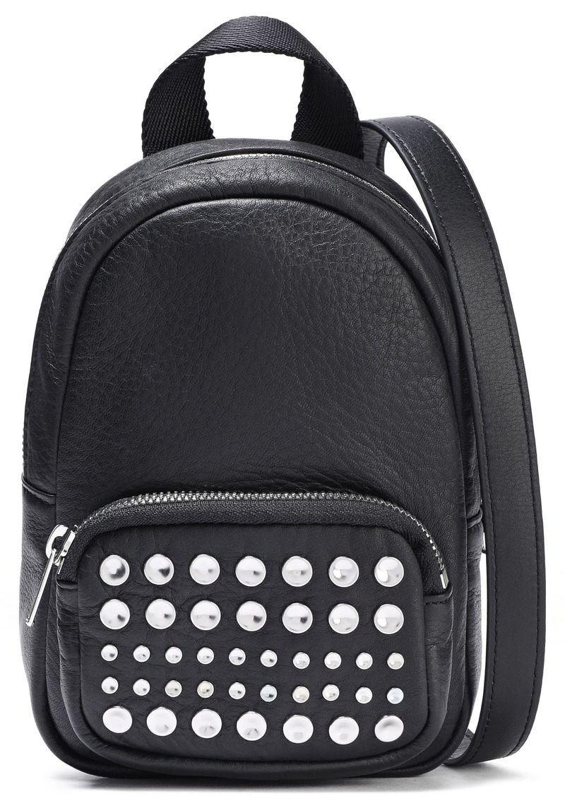 Mcq Alexander Mcqueen Woman Studded Leather Backpack Black
