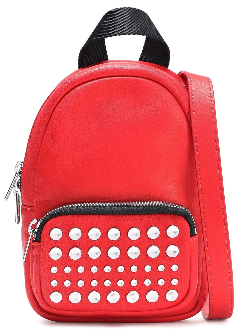 Mcq Alexander Mcqueen Woman Studded Leather Backpack Red