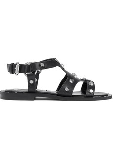 Mcq Alexander Mcqueen Woman Studded Leather Sandals Black