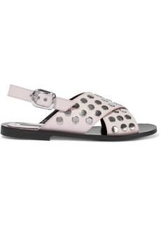 Mcq Alexander Mcqueen Woman Studded Leather Sandals Off-white