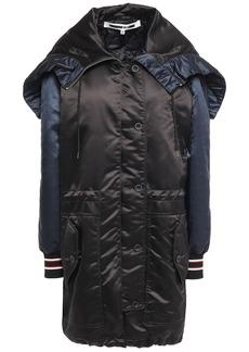 Mcq Alexander Mcqueen Woman Two-tone Satin-shell Hooded Parka Black