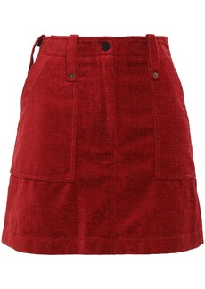 Mcq Alexander Mcqueen Woman Velvet Mini Skirt Brick