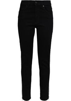 Mcq Alexander Mcqueen Woman Zip-detailed High-rise Skinny Jeans Black