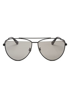 McQ Alexander McQueen Women's Brow Bar Aviator Sunglasses, 61mm