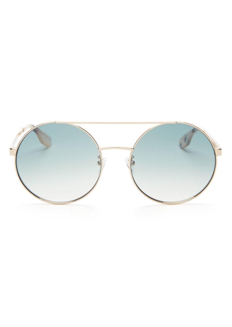 McQ Alexander McQueen Women's Brow Bar Round Sunglasses, 59mm