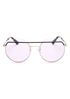 McQ Alexander McQueen Women's Iconic Round Sunglasses, 55mm