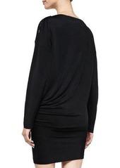 McQ Alexander McQueen Zip-Detail Boat-Neck Jersey Dress