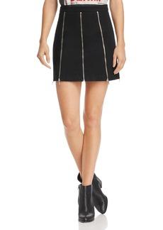 McQ Alexander McQueen Zip-Detail Mini Skirt