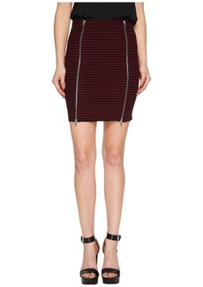 McQ Alexander McQueen Bodycon Zip Short Skirt