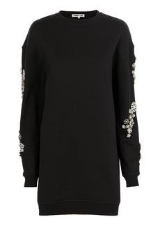 McQ Alexander McQueen Crystal-Embellished Sweatshirt Dress