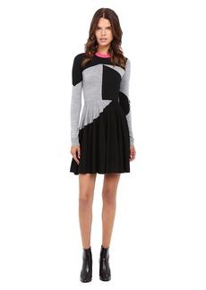 McQ Colour Block Skater Dress