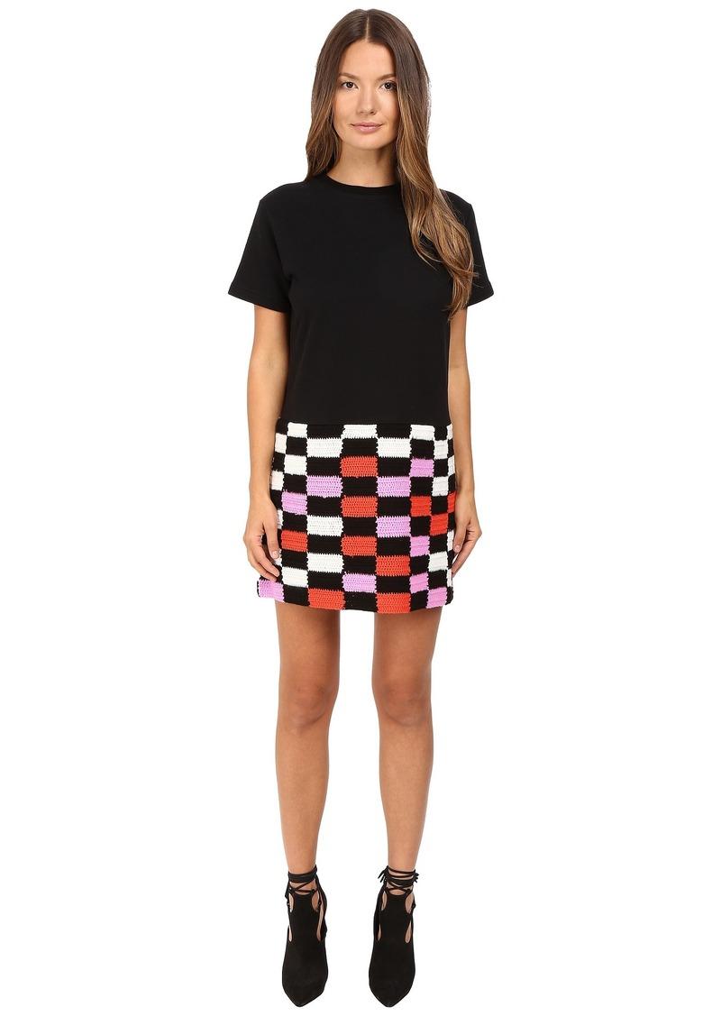 McQ Alexander McQueen McQ Crochet Block Dress