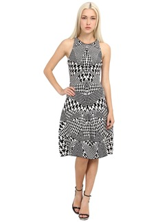McQ Houndstooth Jacquared Flirty Dress