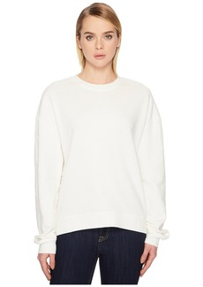 McQ Alexander McQueen Lace Trim Slouchy Sweater