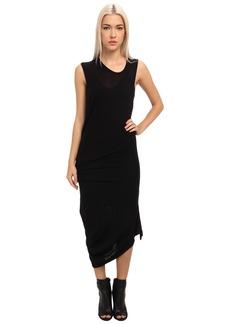 McQ Solid Rib Jersey T-Bend Dress