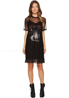 McQ Alexander McQueen Trompe D'Oeil Fear Nothing Dress