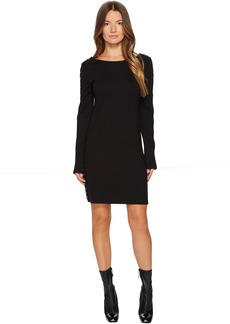 McQ Alexander McQueen Zip Sleeve Short Interlock Dress