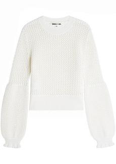 McQ Alexander McQueen Mesh Knit Wool Pullover