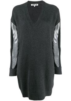 McQ Alexander McQueen mesh sleeve dress