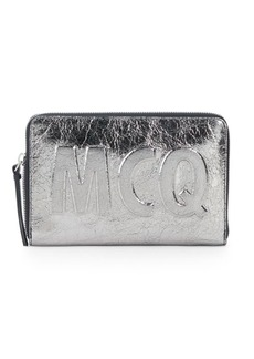 McQ Alexander McQueen Metallic Leather Pouch