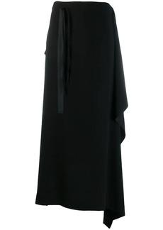 McQ Alexander McQueen midi draped skirt