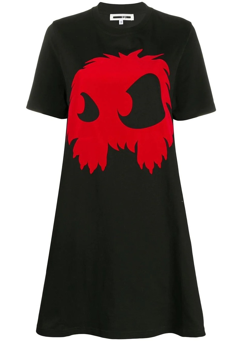 McQ Alexander McQueen Monster print T-shirt dress
