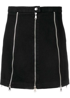 McQ Alexander McQueen multiple-zipper denim skirt