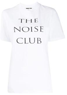 McQ Alexander McQueen Noise Club print T-shirt