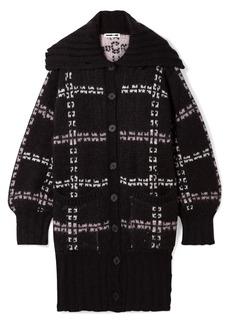 McQ Alexander McQueen Oversized Checked Jacquard-knit Coat