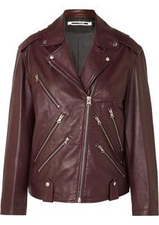 McQ Alexander McQueen Oversized Leather Biker Jacket